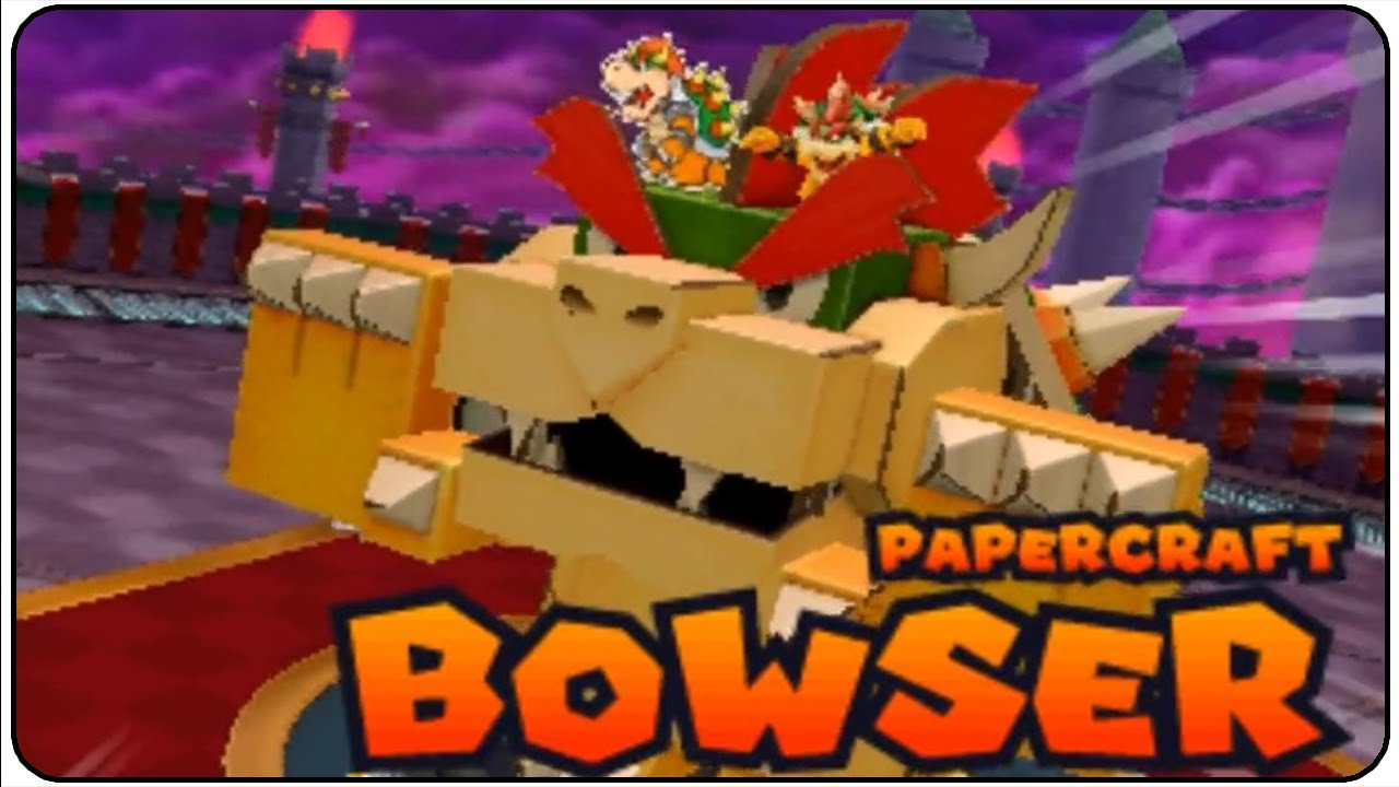 Papercraft Mario & Luigi Paper Jam Walkthrough Part 48 Papercraft Bowser Boss Battle