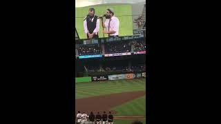 8th Day sings national anthem Mets @Marlins 4/13/17