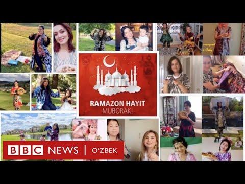 Хориждаги ўзбек қизлари Рамазон Ҳайити билан рақс тушиб табрикладилар - BBC Uzbek