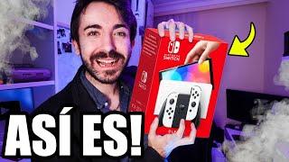 Así es el UNBOXING de Nintendo Switch OLED! 😍 Reacción - Vale la pena Comprar? Juegos y Pantalla!