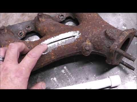 Stick Welding Cast Iron Repair with Muggy Weld