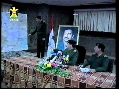 Iraq TV military sitrep conference aired live during air strikes 2003