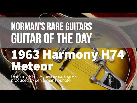 Norman's Rare Guitars – Guitar of the Day: 1963 Harmony H74 Meteor