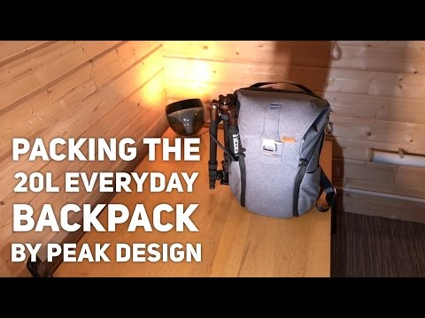Packing the Peak Design Everyday Backpack 20L Camera Battery Grip, 4 lenses etc Review
