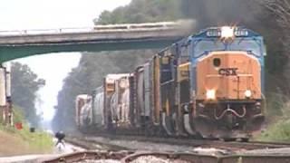 CSX 4816 Leads CSX Q541-27 at South Ocoee