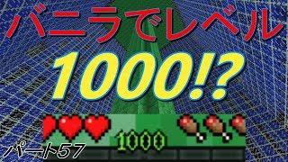 [マインクラフト]バニラでレベル1000!?ウルルンクラフトパート57[ゆっく…
