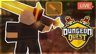 CARRYING FANS DUNGEON QUEST GRINDING THIS GAME IS ADDICTING ROBLOX RPG BEST MELEE BUILD!