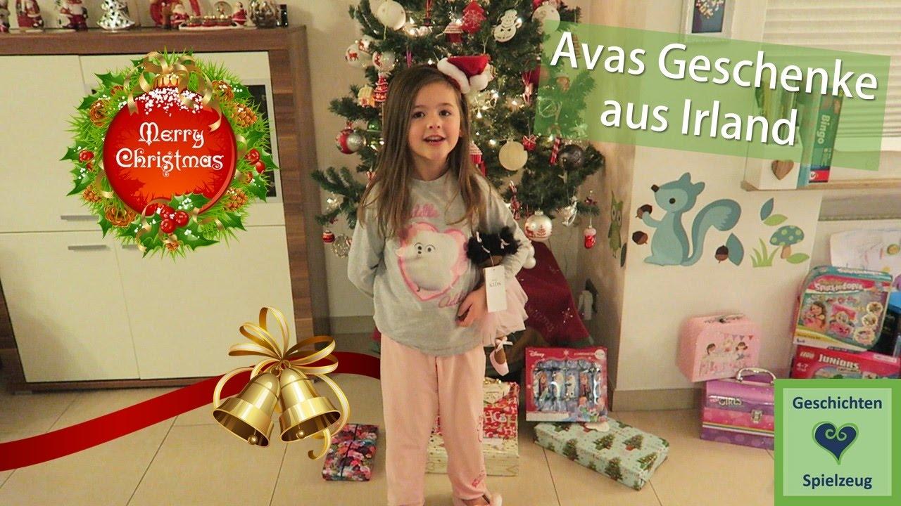 Weihnachten Bescherung Teil 1   Ava\'s Geschenke aus Irland ...