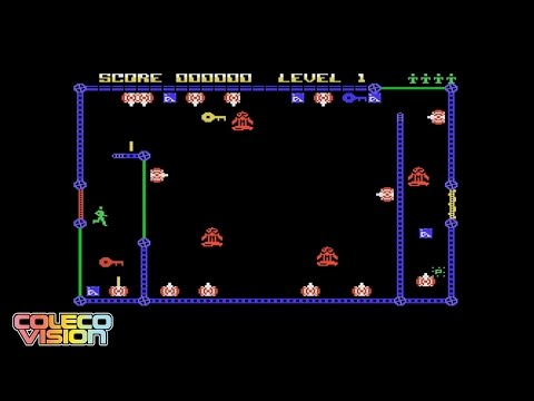 CV: Let's Play Frantic On ColecoVision! Awesome Berzerk / Frenzy sequel homebrew game!