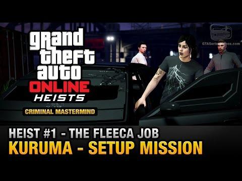 GTA Online Heist #1 - The Fleeca Job - Kuruma (Criminal Mastermind)