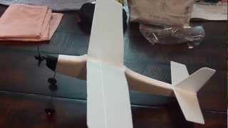 Rubber Band Power Airplane (estes Hot Head Model)