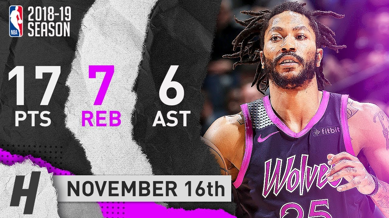 outlet store d1489 a9016 Derrick Rose Full Highlights Wolves vs Trail Blazers 2018.11.16 - 17 Pts, 6  Ast, 7 Reb