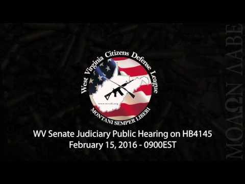 WV Senate Public Hearing on HB 4145 3-22 Carry - 02.15.2016