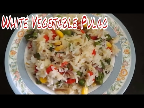 White Vegetable Pulao Recipe
