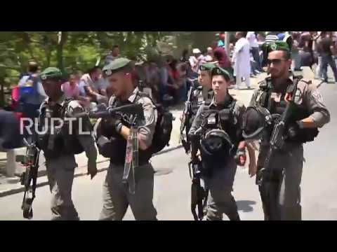 East Jerusalem: Worshippers gather for Friday prayers amid tight security