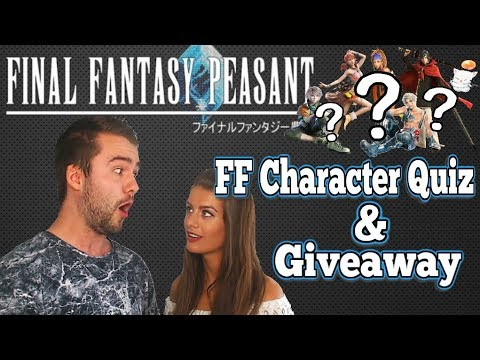 LETS QUIZ TASH! Final Fantasy Peasant Wall Update & Prize Giveaway