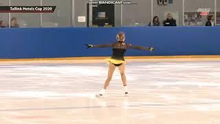 Niina Petrokina SP Junior Ladies Tallink Hotels Cup 2020