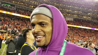 Deshaun Watson 2018 National Champions post-game