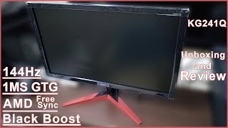 """Acer KG241QP 24"""" 144Hz Gaming Monitor 