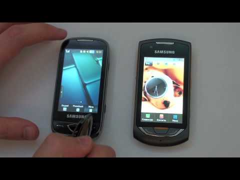 Видеообзор мобильных телефонов Samsung S5560 и S5620 Monte