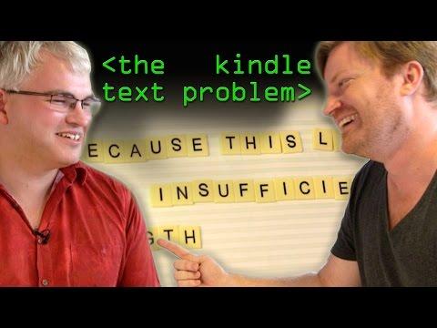 The Kindle Text Problem - Computerphile