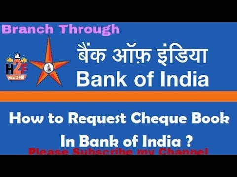 How to apply cheque book in bank of india