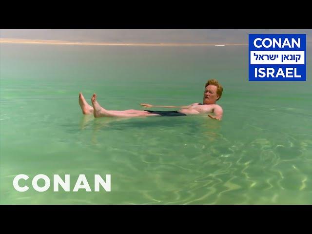 Conan Floats In The Dead Sea  - CONAN on TBS