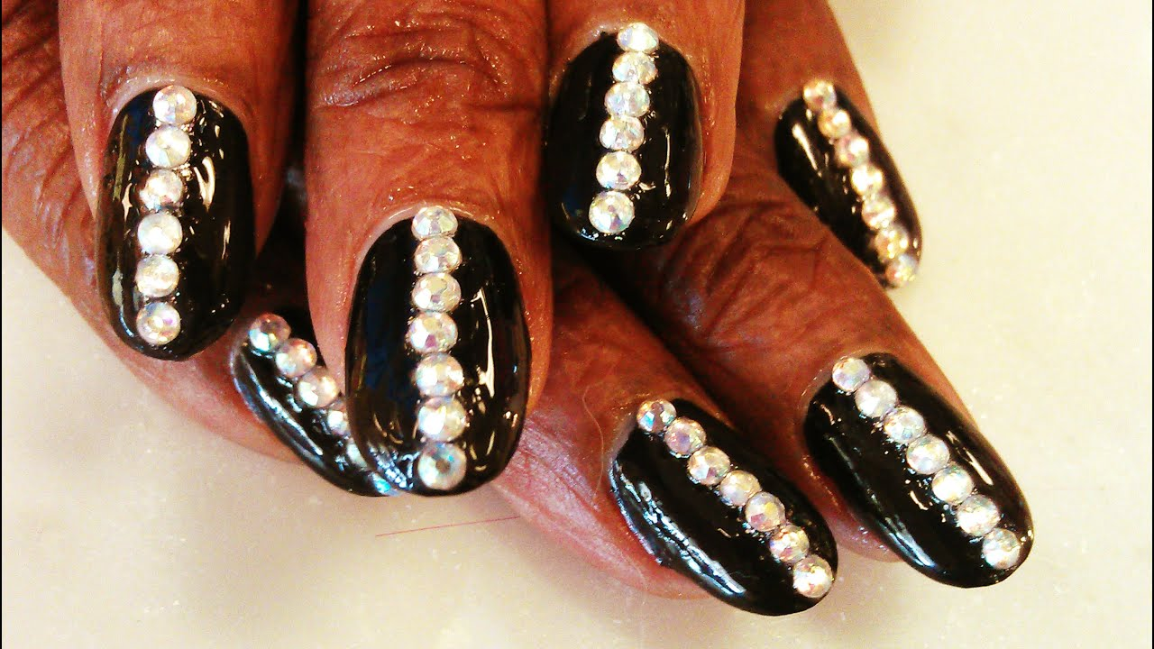 bling nail art design