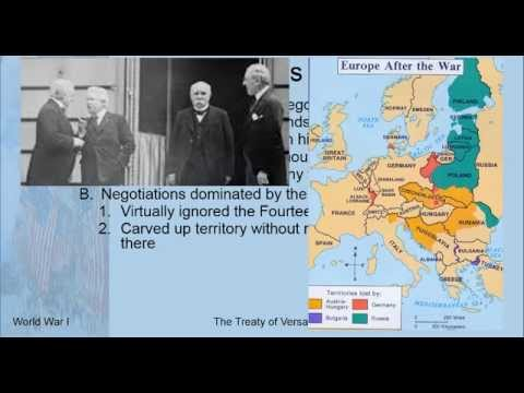 World War I - The Treaty of Versailles