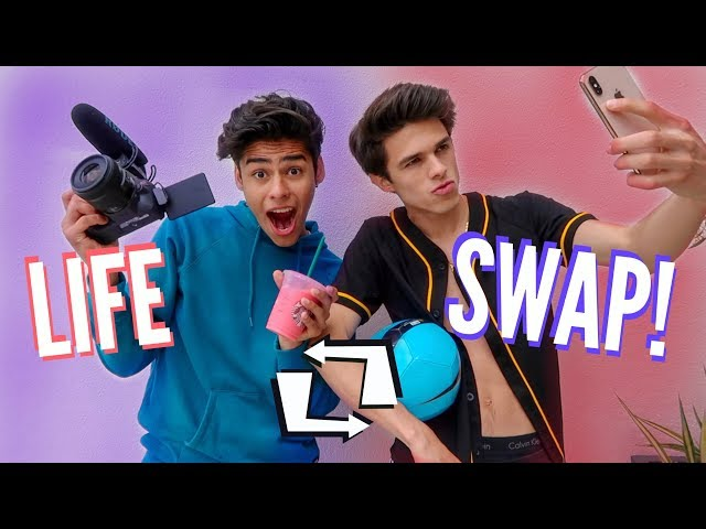 BEST FRIENDS SWAP LIVES FOR A DAY! | Brent Rivera