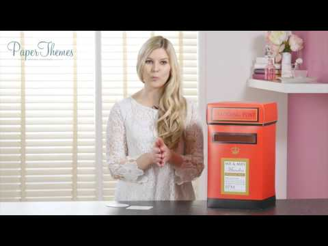 Paper Themes Wedding Postboxes