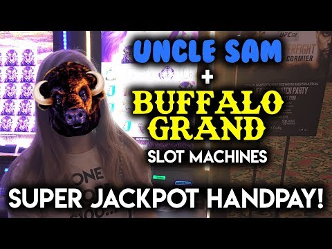 SUPER JACKPOT HANDPAY on BUFFALO GRAND! Slot Machine! How Much did the BONUS Wheel give me???