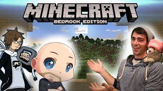 Minecraft - We're breaking through! [Bedrock Survival ft. ThatBaldGamer and AuraOfTheQ!]