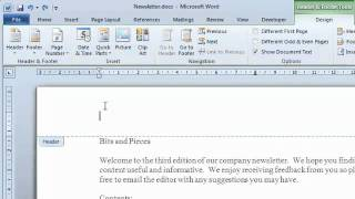 Word  - Adding the document filename and pathname to a Header or Footer