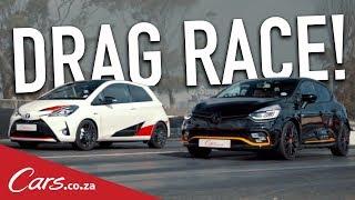 Drag Race - Toyota Yaris GRMN vs Renault Clio RS 18