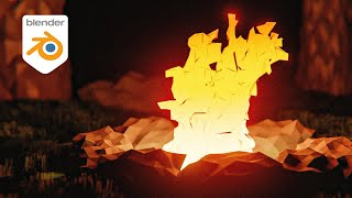 Blender Tutorial - Low Poly Fire Animation (2.91)