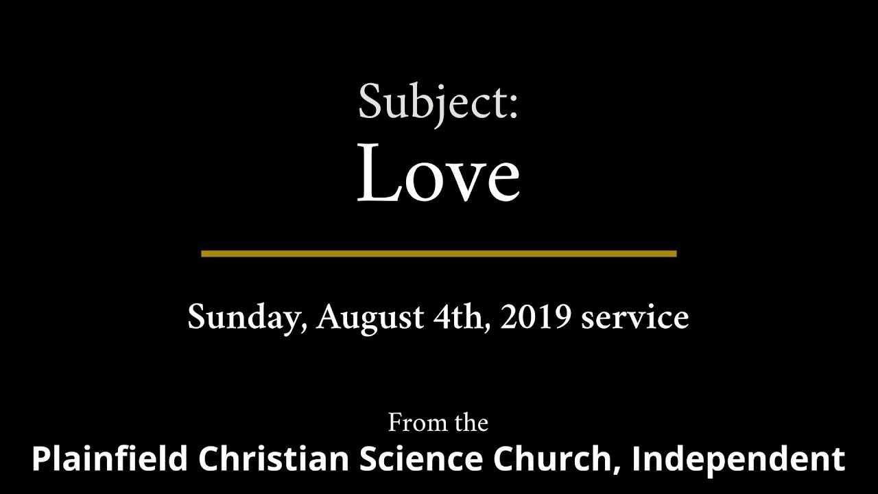 Sunday, August 4th, 2019 Service
