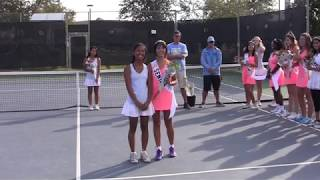 Heritage High School: Girls Tennis, Senior Night! 10-23-18