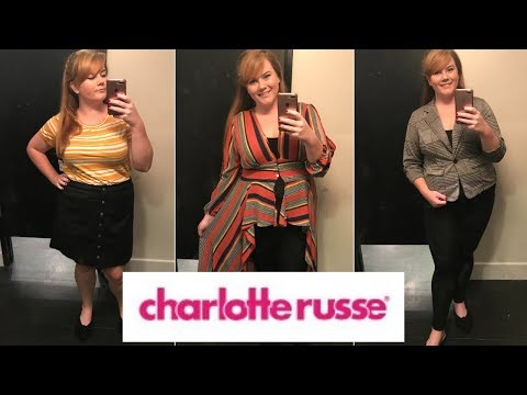 Trying on clothes at Charlotte Russe | PLUS SIZE INSIDE THE DRESSING ROOM
