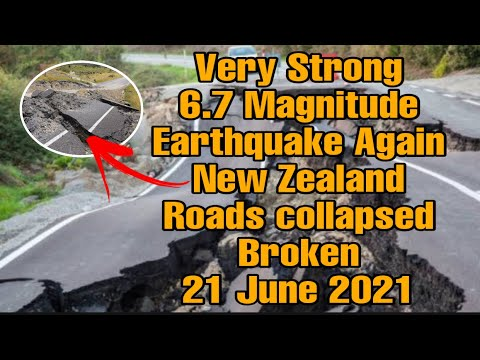 21 June Very strong mag. 6.5 earthquake - South Pacific Ocean, New Zealand