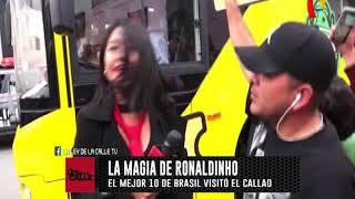 Ronaldinho provocó gran alegría al pueblo chalaco
