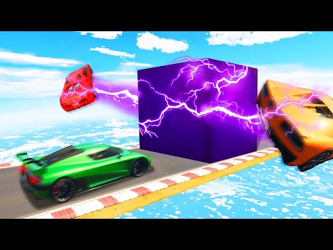 Can You DODGE The Bouncing CUBE?! (GTA 5...