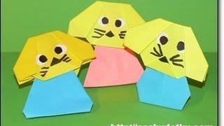 Оригами собачка 2 (видео урок) http://nashydetky.com