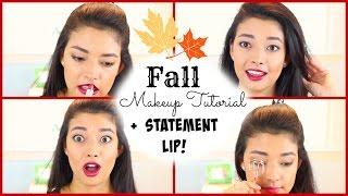 Fall Makeup Tutorial + Statement Lip! Thumbnail