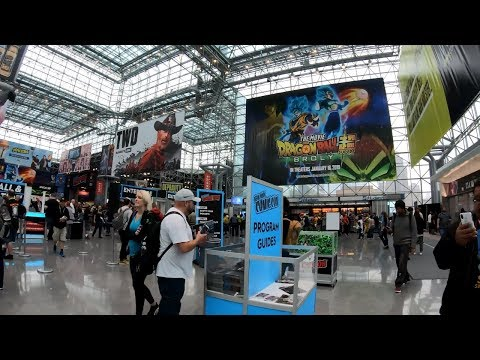 ⁴ᴷ Walking to the Jacob Javits Center (Comic Con 2018 Weekend) from Penn Station in NYC