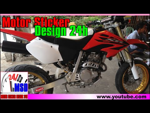 Honda XR250 | XR250 supermotor in cambodia sticker modified