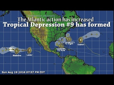 The Atlantic Ocean action has increased! Tropical Depression #9 has formed!