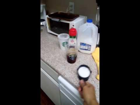 Starbucks coconut mint iced coffee