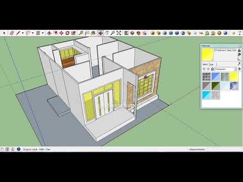 Rumah Ukuran 7x8 5 Part 5 Sketchup Design Sketchup Tutorial House Youtube
