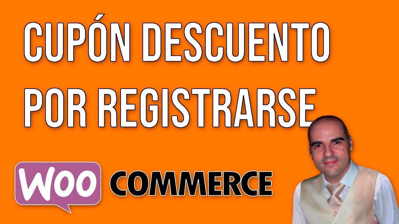 Enviar un descuento al cliente por registrarse con WooCommerce